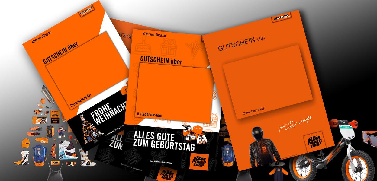 Der KTM Geschenk Gutschein